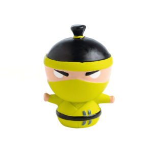 Dog Toy Ninja Design 9cm Yellow